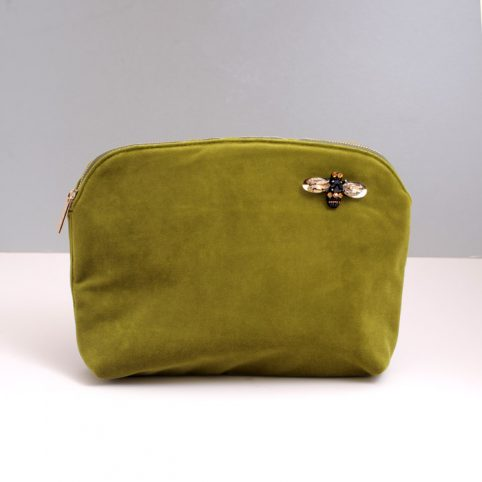 Green Large Velvet Make Up Bag Sixton - buy P