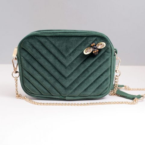 Quilted Velvet Cross Body Bag Sixton - Buy Online UK