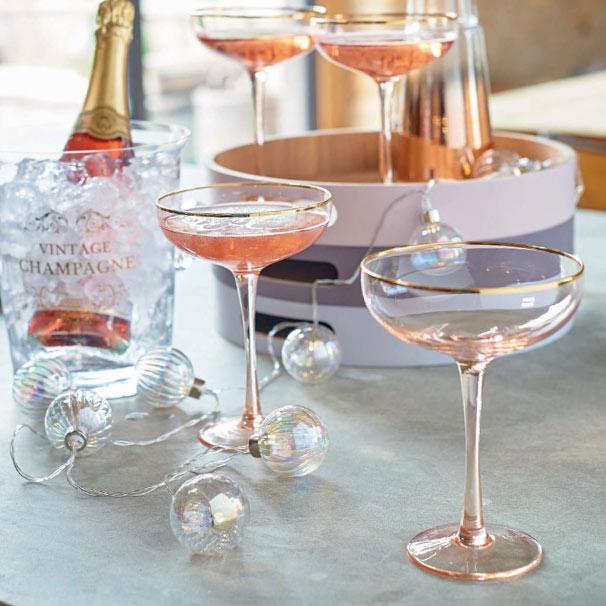 Pink Blush Champagne Glasses - Buy Online UK