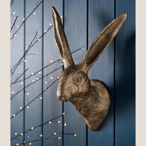 Gold Hare Wall Decoration - Buy Online UK