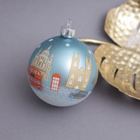 London Icons Glass Bauble - Buy Online UK