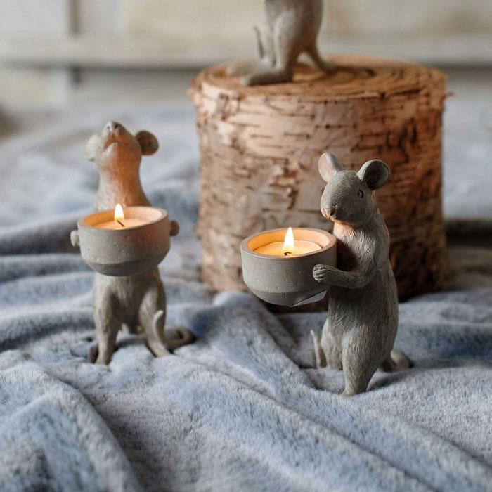 Parlane Mice Candle Holders - Buy Online UK