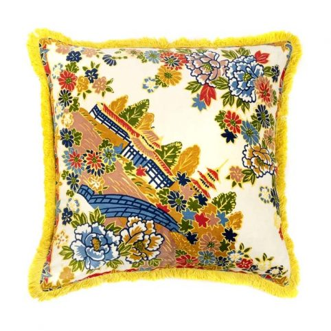 Velvet Square Cushion Pagoda - Buy Online UK