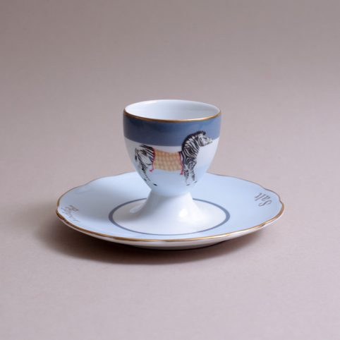Zebra Egg Cup With Saucer - Buy Online UK