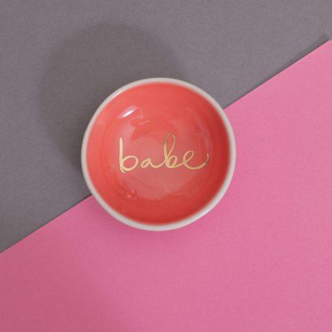 Babe small orange trinket dish