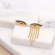 Scream Pretty Gold Eyes Earrings - Buy Online UK