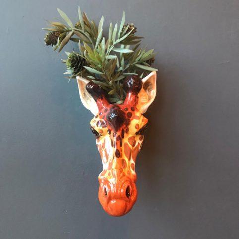Animal Wall Vase Giraffe - Buy Online UK