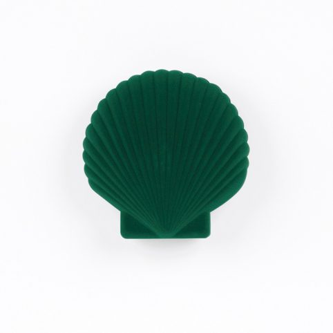 Green Velvet Shell Shaped Jewellery Box For Sale Online UK