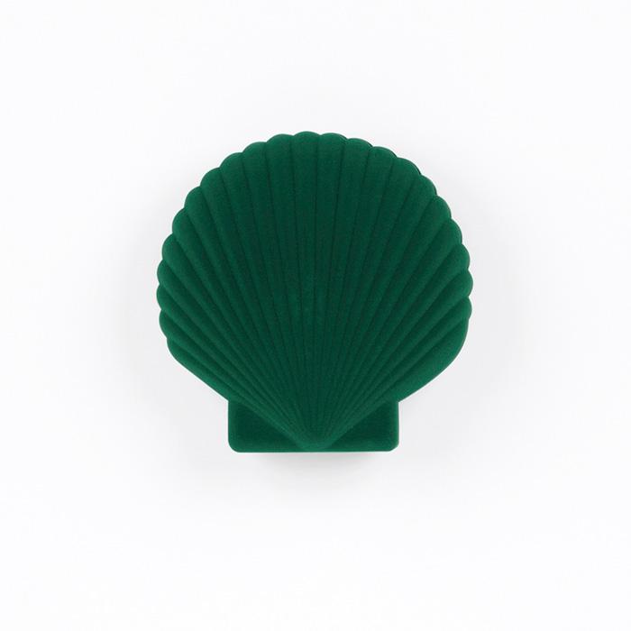 Green Velvet Shell Shaped Jewellery Box For Sale Online UK