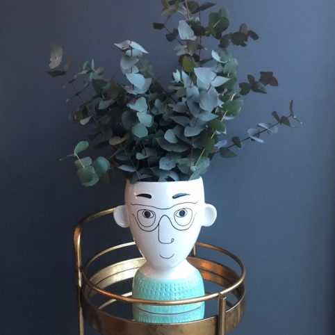 Man's Face Unusual Flower Vase - Buy Online UK