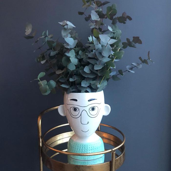 Man's Face unusual flower vase