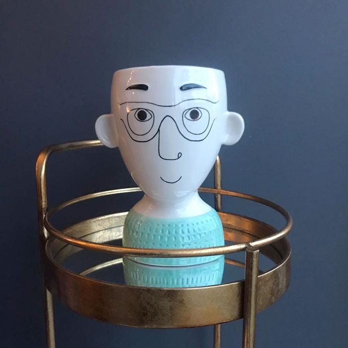 Man's Face Quirky Flower Vase - Buy Online UK