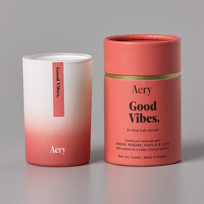good vibes candle ourchase online with free UK delivery