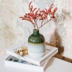 Glazed Green Bud Vase Sass and Belle - Buy Online UK