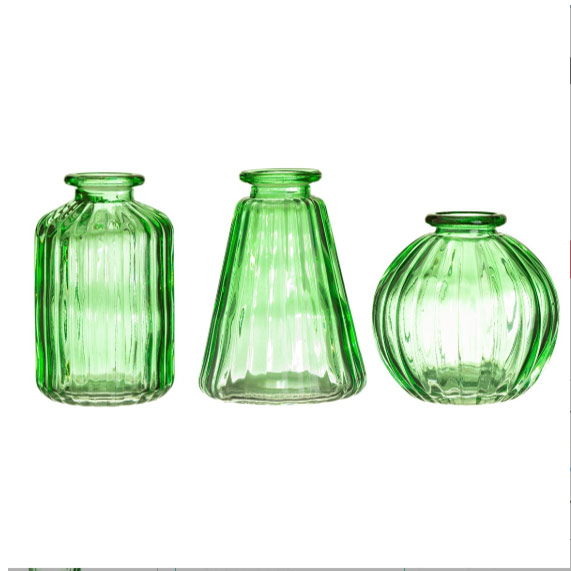 Set of 3 Glass Bud Vases Sass and Belle - Buy Online UK