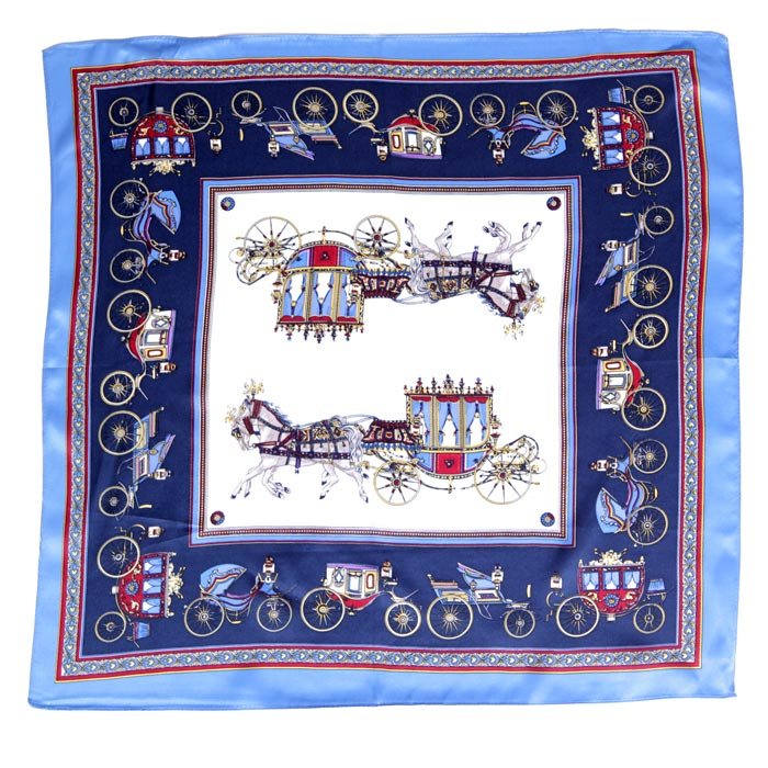 Square Silk Scarf Horse & Carriages - For Sale Online UK