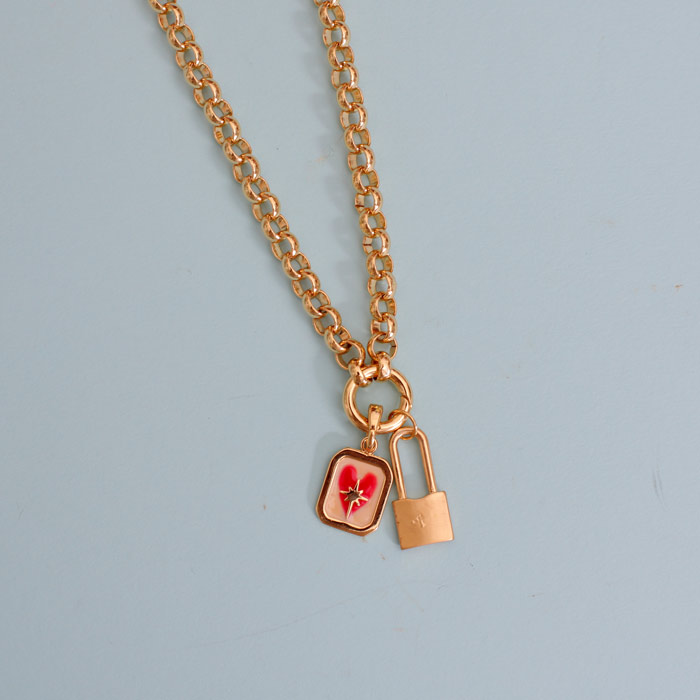 chunky padlock necklace for sale online UK
