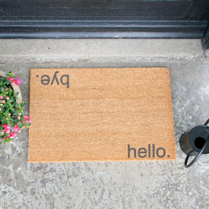 Hello Bye Doormat Artsy - Buy Online UK