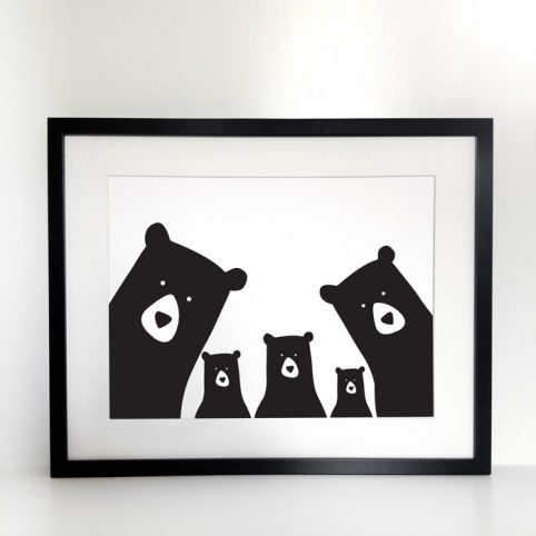 Five Bears Family Print - Buy Online UK