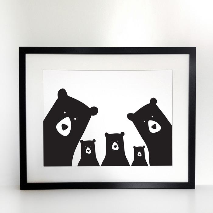 Five Bears Family Print - Buy Online UK