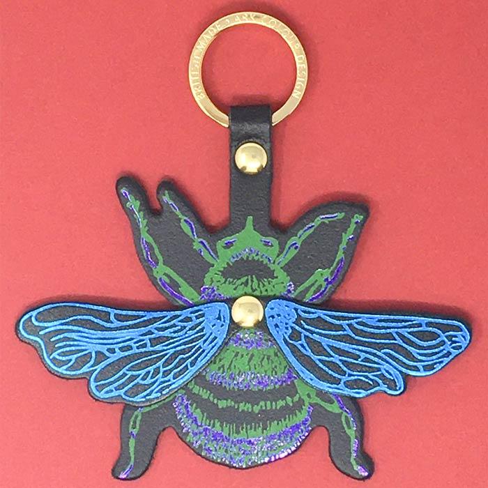Bee Leather Key Fob - Buy online UK