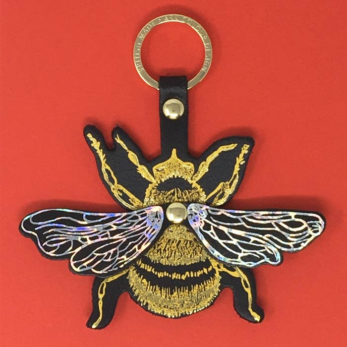 Bee Leather Keyring Buy Online UK