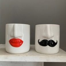 Mr and Mrs Small Ceramic Pots - Buy Online UK