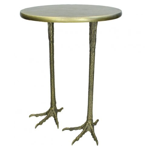 Crane Feet Anitque Brass Side Table - Buy Online UK