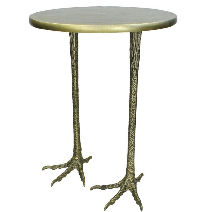 Crane Feet Anitque Brass Side Table - Buy Online UK