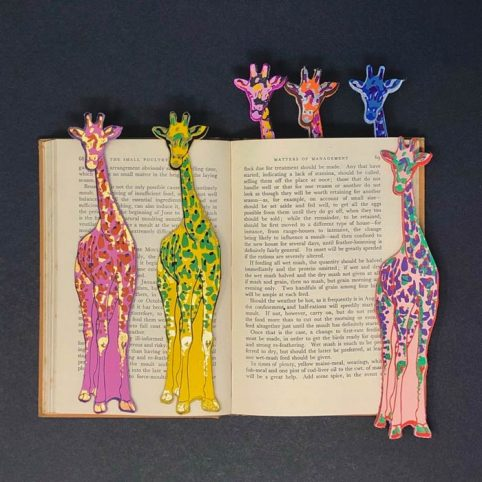 Giraffe Leather Bookmark - Buy Online UK