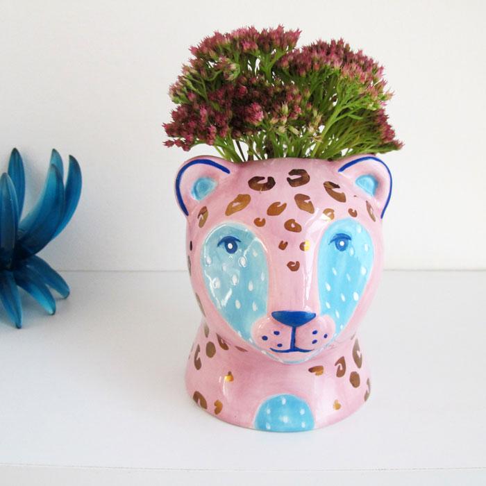 Leopard Plant Pot - Buy Online UK