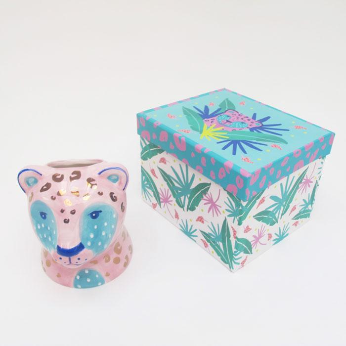 Savannah Pink Leopard Plant Pot - Buy Online UK