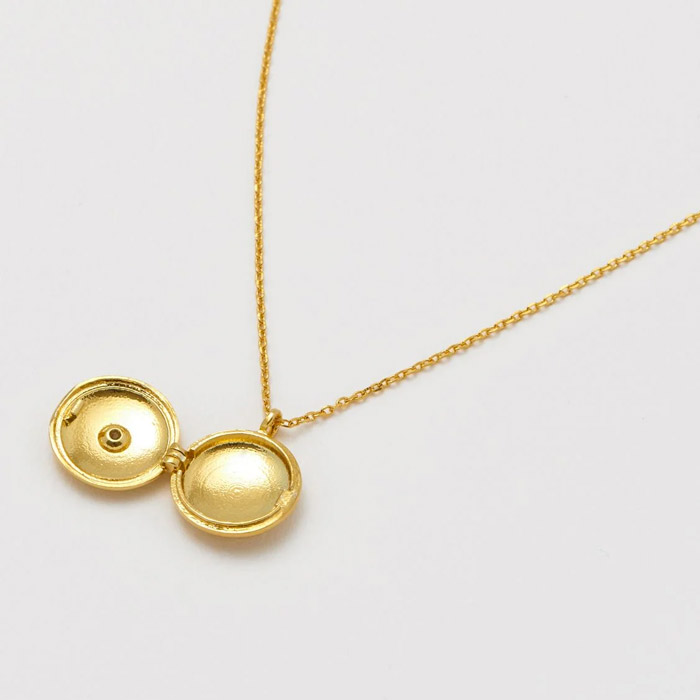 Gold plated locket necklace