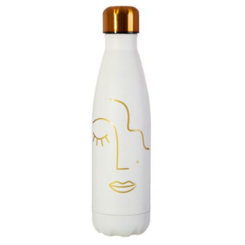 Stainless Steel Bottle Abstract Face - Buy Online UK