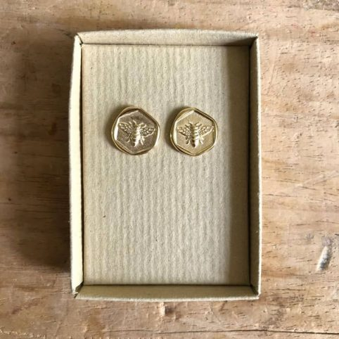 Sixton Bee Stamp Earrings - Buy Online UK