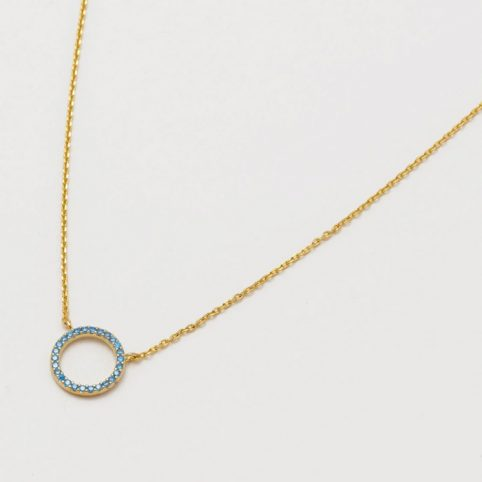 Estella Bartlett Blue Circle Necklace - Buy Online UK