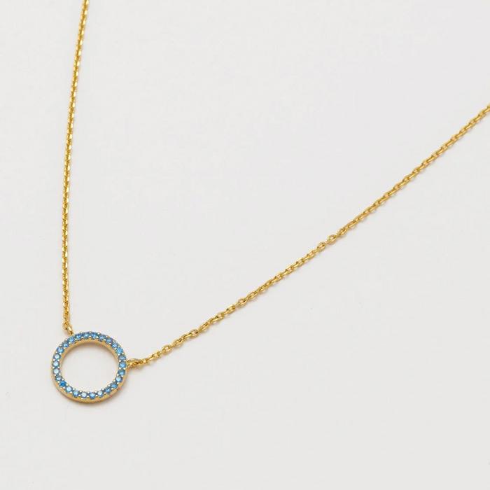 Estella Bartlett Blue Circle Necklace - Buy Online UK