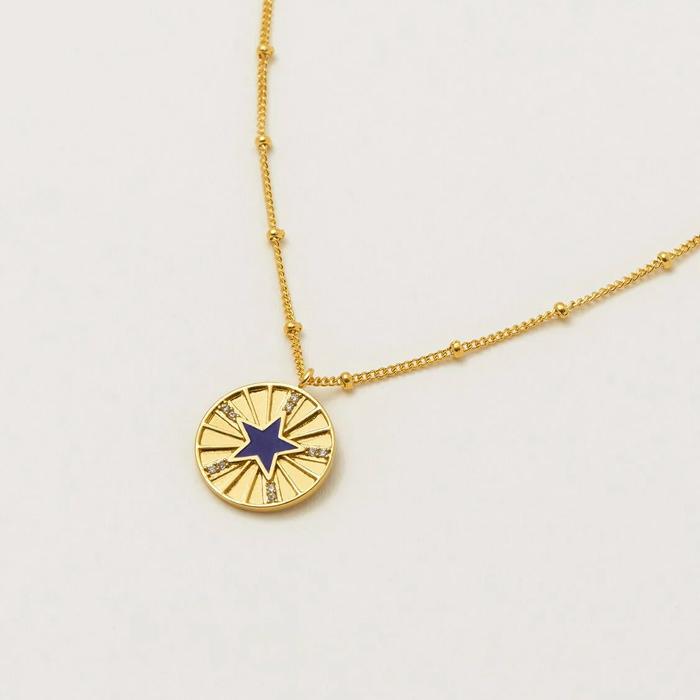 Enamel Star Disc Necklace Estella Bartlett - Buy Online UK