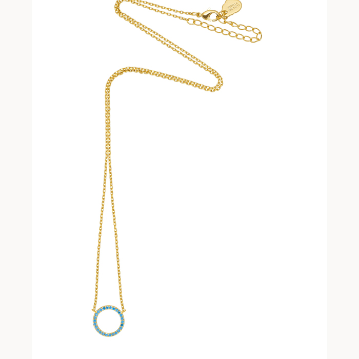 Blue Circle Necklace - Buy Online UK