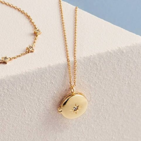 Estella Bartlett Gold Plated Locket Necklace - Buy Online UK