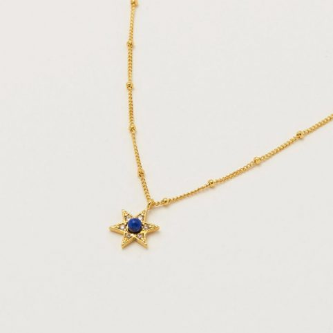 Lapis Lazuli and Star Necklace - Buy Online UK
