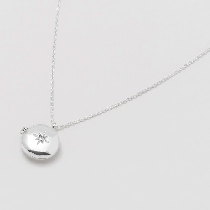 Silver Plated Locket Necklace - Buy online UK