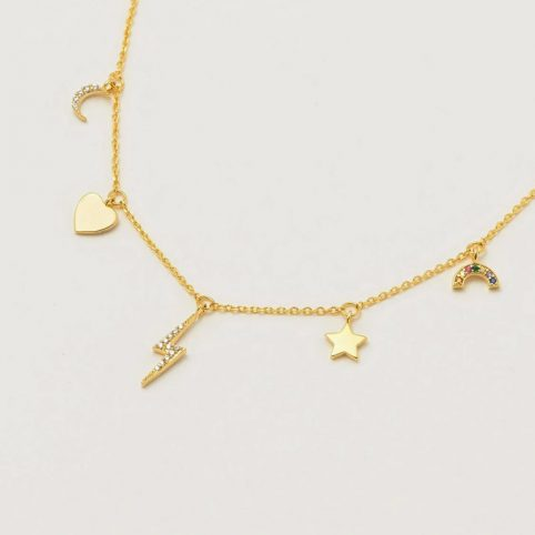 Estella Bartlett Multi-Charm Necklace - Buy Online UK