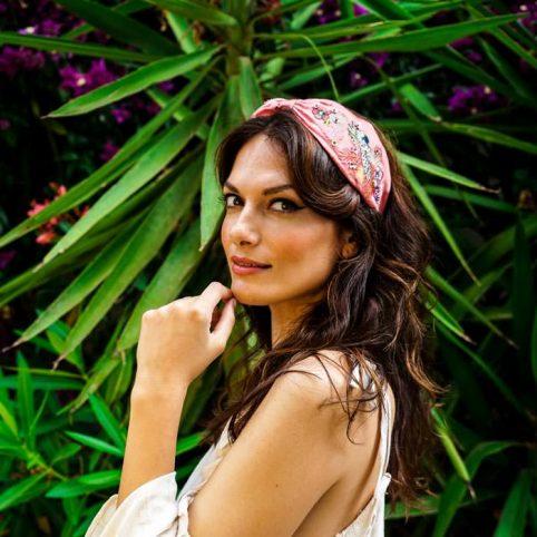 Pink Embroidered Floral Headband - Buy Online UK
