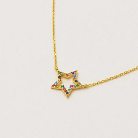 Rainbow Star Necklace - Buy Online UK
