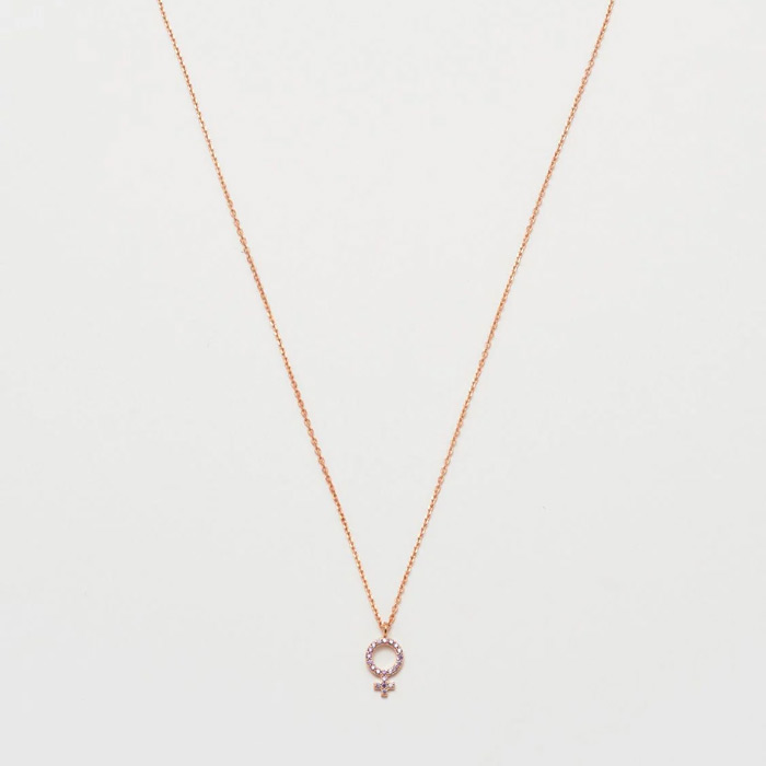 rose gold plated necklace venus