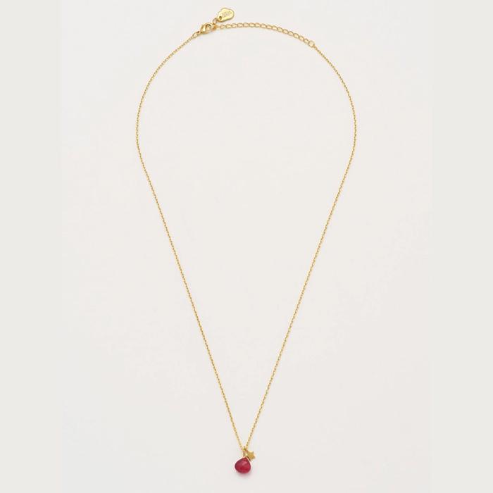 Estella Bartlett Ruby and Star Necklace - Buy Online UK