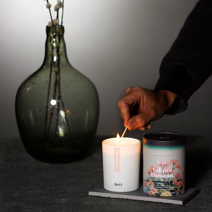 Aery Sakura Blossom Candle - Buy Online UK