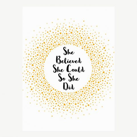 She believed She Could So She Did - For Sale Online UK