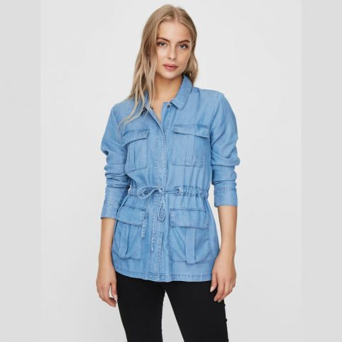 Women Blue Denim Utility Jacket Vero moda - Buy Online UK
